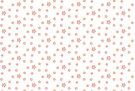 Seamless Japanese-style pattern of cherry blossoms Ilustrace