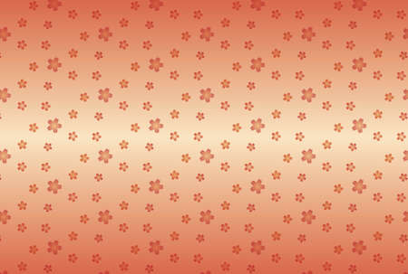 Pink gradient background and seamless Japanese-style pattern of cherry blossoms Ilustrace