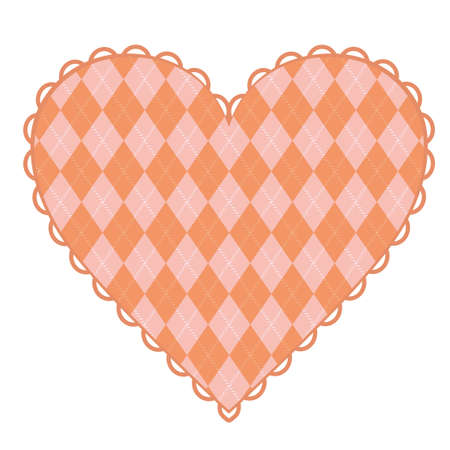 The pink heart of the Argyle pattern