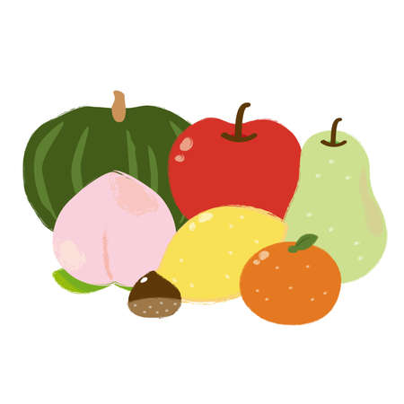 Illustration of vegetables and fruits  イラスト・ベクター素材