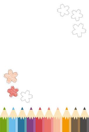 Colored Pencil Oekaki Cherry Blossoms
