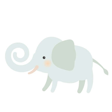 Illustration of an elephant winding its nose