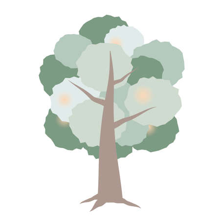 Illustration of a picture book-like tree