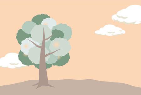 A tree and a dusksky