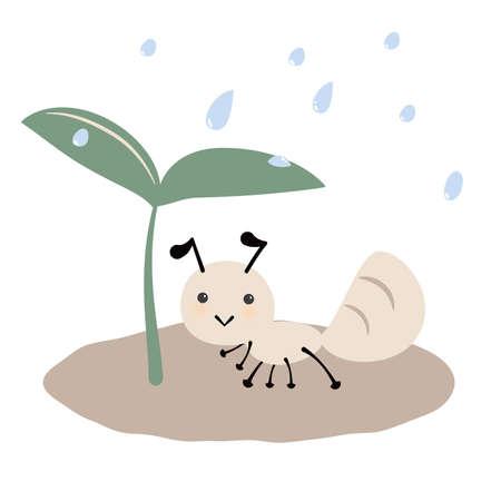 Illustration of an ant dwelling in Futaba  イラスト・ベクター素材