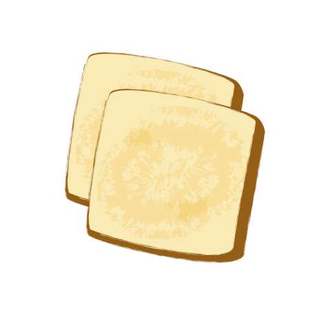 2 pieces of bread