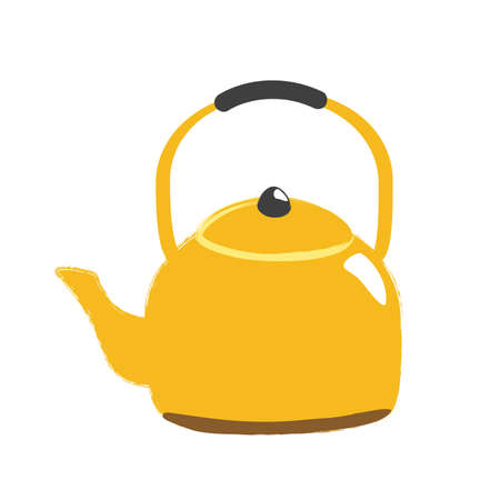 Illustration of a golden kettle