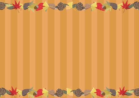 Autumn Wallpaper A4 Side Fallen Leaf Line