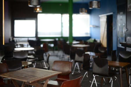 empty space: Empty space of a hipster bar Stock Photo