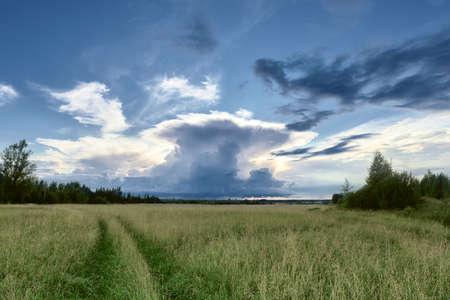 thunderstorm: Rural landscape after a thunderstorm in summer