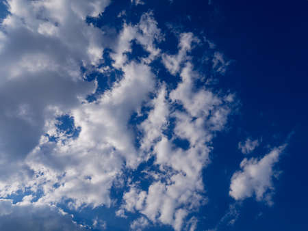 Clouds in the blue sky on a summer day