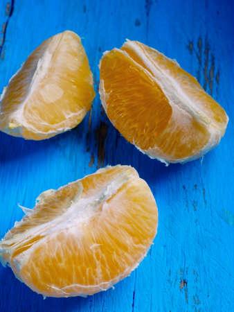 half  cut: fresh citrus half cut fruits overhead on wooden table