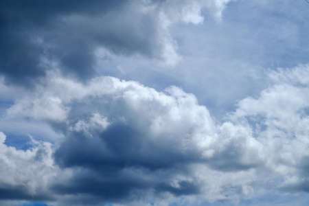 The beautiful white cloud on a blue background shot on a clear day. Stock Photo