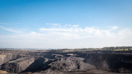 magnetic stones: The coal industry in Siberia. Stock Photo