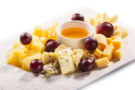 Cheese on white background isolated