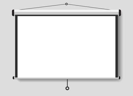 Een geprojecteerd scherm voor uw presentaties Stock Illustratie