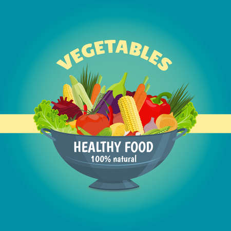 Healthy food. Fresh vegetables in a bowl.