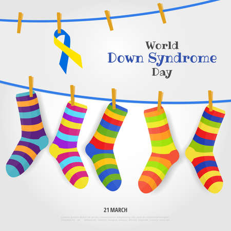 World Down Syndrome day vector illustration.