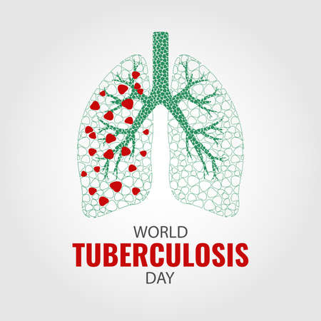 Vector Illustration on the theme World Tuberculosis Day with lungs design.
