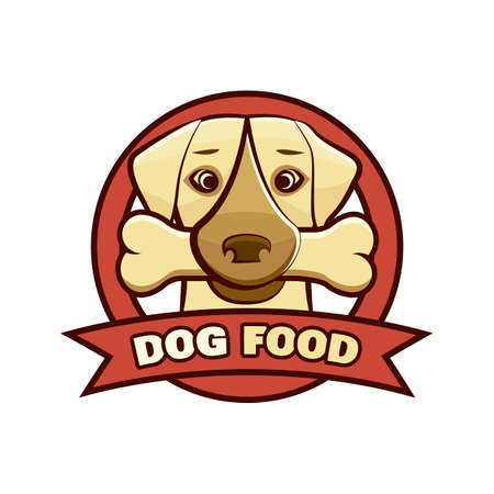 icon template. A dog image, suitable for business that is associated with pets.