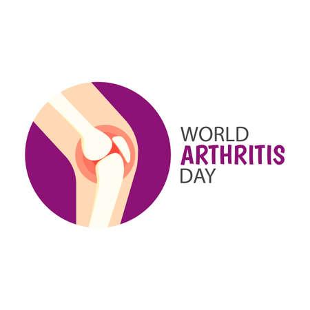 Illustration vectorielle sur le thème Journée mondiale de l'arthrite Vecteurs