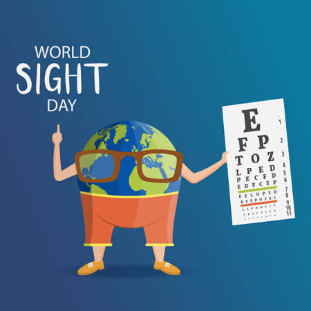 Vector Illustration on the theme World Sight Day Ilustração