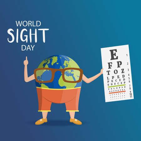 Vectorillustratie op het thema World Sight Day Vector Illustratie