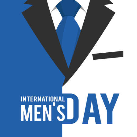 Vector illustration on the theme International Men's Day. For a poster or banner and greeting card. Stock Illustratie
