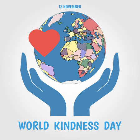 Vector Illustration on the World Kindness Day.