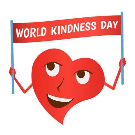 Illustration vectorielle sur la journée mondiale de la gentillesse. Vecteurs