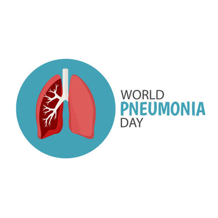 Vector Illustration of the World Pneumonia Day.