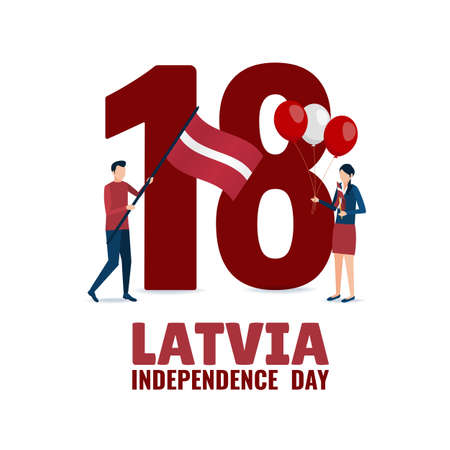 Vector Illustration of Independence Day of Latvia.