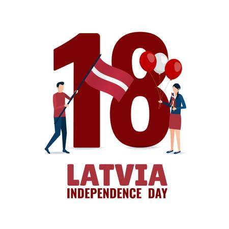 Vector Illustration of Independence Day of Latvia. Ilustración de vector