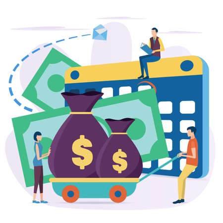 The concept of Investment. Investment in business development. Develop strategies to increase profits. Vector illustration in flat style.