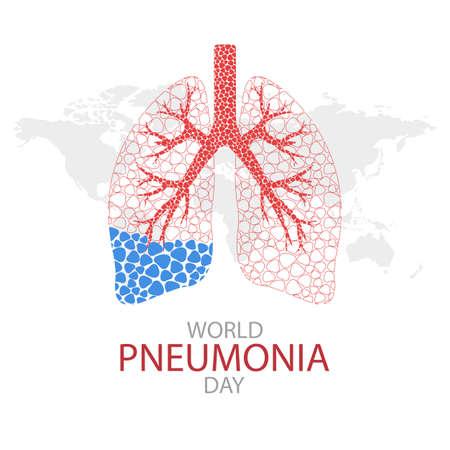 Ilustración de vector del día mundial de la neumonía.