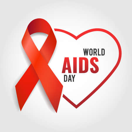 Vector illustration on the theme of World Aids Day.