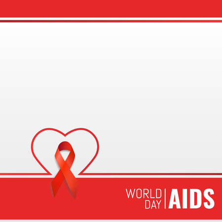 Vector illustration on the theme of World Aids Day. Template for information, notes, infographics.