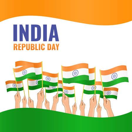 Vector Illustration on the Indian Day Ilustração