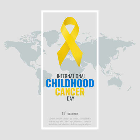 Vector illustration of the Childhood Cancer Day.