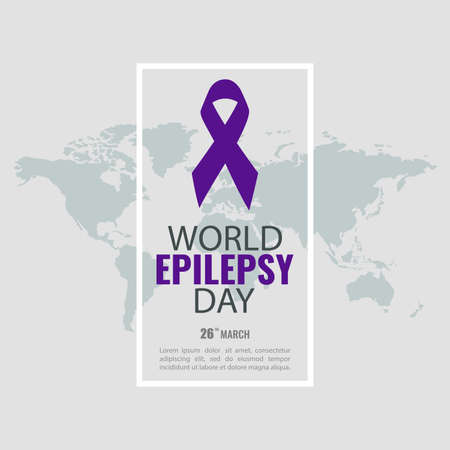Vector Illustration of the World Epilepsy Day. Purple Day. For a poster and banner. Illustration