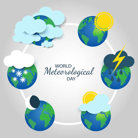 Vector Illustration on the World Meteorological Day.