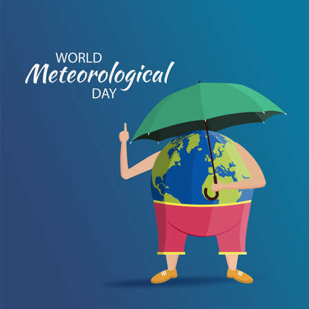 Vector Illustration on the World Meteorological Day. Ilustración de vector