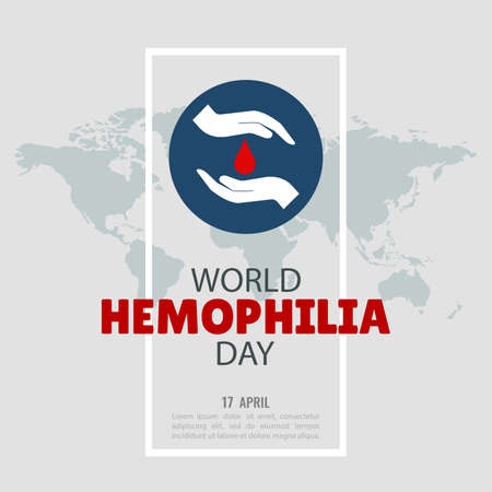 Vector Illustration on the World Hemophilia Day. For a poster and banner.