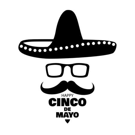 Vector illustration for the holiday of Cinco de Mayo.