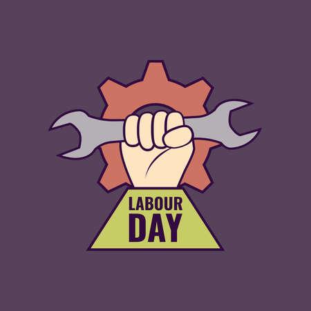 Vector symbol, icon on the theme Labor Day. Flat design.