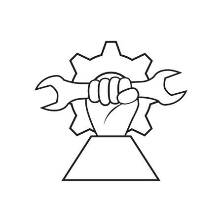 Vector symbol, icon on the theme Labor Day. Illustration