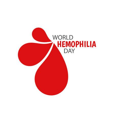 Vector Illustration on the World Hemophilia Day