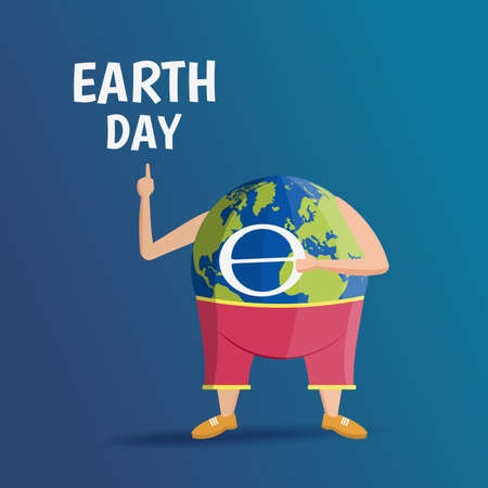 Vector Illustration on the Earth Day.