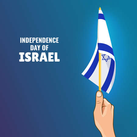 Vector Illustration of the Day of Israel. Illustration