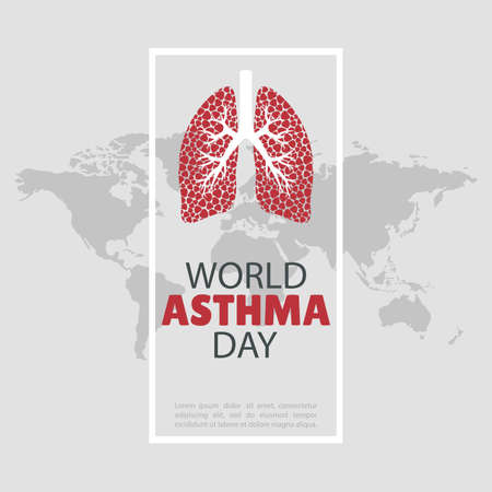 Vector Illustration of the World Asthma Day. For a poster and banner.